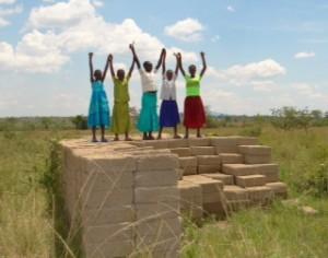 Girls from Kitenga - hoping their new girls school will open soon!