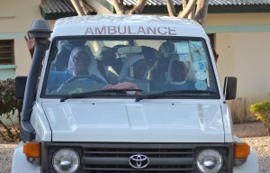 The ambulance for theirother clinic, in Baraki, sometimes has to do double duty.