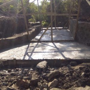 The bridge getting built before the next series of rain
