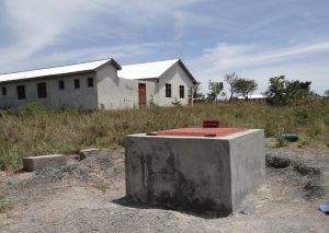The New deep bore well, situated near the teachers' houses, sponsored by Buffalo Sunrise Rotary.